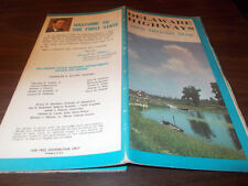 1970 Delaware State-issued Vintage Road Map