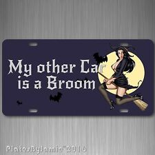Funny Sexy Witch on Broom Auto Car Truck License Plate Tag  Aluminum Wicca Pagan