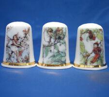 Birchcroft Thimbles -- Set of Three -- Tree Fairies