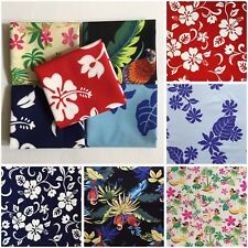 "5pcs 18""X30"" Hawaii Flower Cotton Fabric Kids-Clothes Bags Patchwork Quilt F18-3"