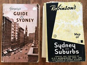 Gregory's Guide to Sydney City Directory Robinsons Sydney & Suburbs Fold Out Map