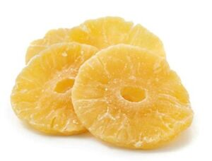 AIVA - DRIED PINEAPPLE RINGS NATURAL- FREE SHIPPING 2 LB