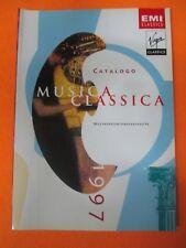 book libro CATALOGO MUSICA CLASSICA 1997 EMI VIRGIN CLASSICS (LG7)