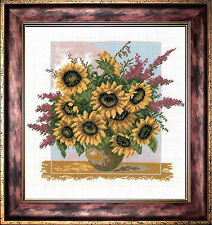 Bouquet Of Sunflowers - Counted Cross Stitch Kit with Color Symbolic Scheme b...