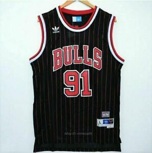 Rétro 1998 Finals Dennis Rodman #91 Chicago Bulls Basketball Maillots Jersey
