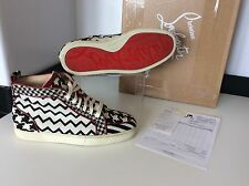Christian Louboutin Pony Black White Sneakers Boots High Tops Size 39 Uk 6 Louis