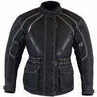 Busa Bikers Gear Ladies JAZZ Black Vented Waterproof CE Armour Motorcycle Jacket