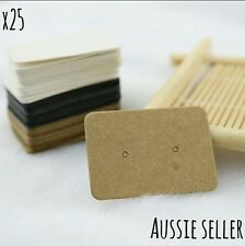 Kraft Paper Earring Display Holder Hanger Cards Tags Craft Market Jewellery DIY