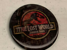JURASSIC PARK THE LOST WORLD lenticular pin badge button 1996 Original Promo
