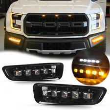 Fits 2017-2018 F-150 Raptor Perfect Fits Switchback 5-LED White&Amber Fog Lamps