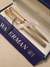 WATERMAN L'ETALON STERLING SILVER GT ROLLERBALL PEN & PENCIL-BOXED-NOS