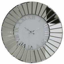 Modern Round Fan Effect Mirror Wall Clock