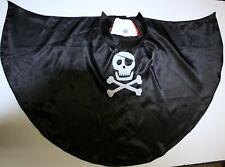 GYMBOREE Unisex black skull & cross bones skeleton Halloween Cape Size:XS 4-6 GC