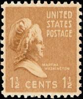 Scott#: 805 - Martha Washington Single Stamp MNH OG -- Free Shipping --