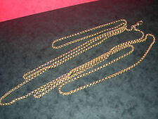 Chain Yellow Gold Necklace/Choker Victorian Fine Jewellery