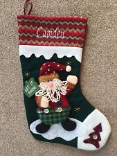 NEW FOR 2017 - PERSONALISED LUXURY 3D CHRISTMAS STOCKINGS FREE EMBROIDERED NAME