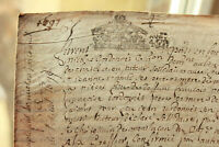 1697 LOUIS XIV royal notary signed manuscript nice signatures and calligraphy 4p