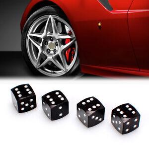 Aluminium Black Dice tire air valve stem cap wheel For Kia Hyund