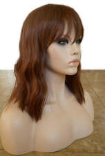 Forever Young Indie Waves Heat Safe Wig (Color 27A/33 Auburn Red) Wavy Bangs