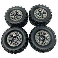 Traxxas Hoss 4x4 VXL Sledgehammer Wheels and Tyres Black Chrome 2.8 (4) 9072