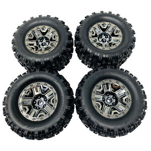 Traxxas Hoss 4x4 VXL Sledgehammer Wheels and Tyres Black Chrome 2.8 (4) 9072