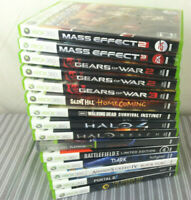 Microsoft XBOX 360 Games Lot ~ Sold Individually ~ Tested Working Free Shipping