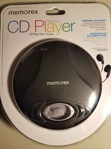 NOS Memorex personal CD player with 60 second skip protection bass boost system