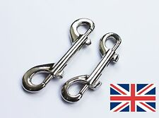 Double End Metal Trigger Clips Snap Hook Bag Key Keychain Luggage 8cm & 10cm