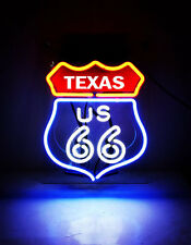 "10""x8"" Us 66 Texa Neon Sign Light Bee Bar Store Open Home Room Wall Poster Gift"