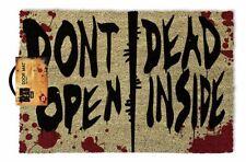 The Walking Dead (Dont Open Dead Inside) 100%25 Coir Rubber Back Door Mat GP85126