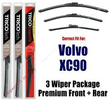 Wipers 3-Pack Premium Wiper Beam Blades - fit 2016+ Volvo XC90 - 19240/200/13-G