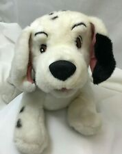 "Disney 101 Dalmatians Puppy Dog Blue Collar Black White Plush 15"" Toy Lovey"