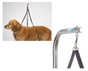 Nylon Grooming Table Harness For Dogs 27 Inches Adjustable Double Pet Noose