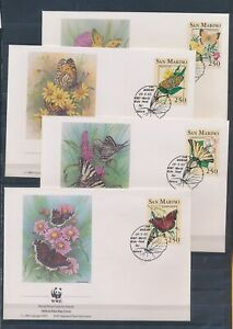XC59385 San Marino 1993 insects bugs flora butterflies FDC's used
