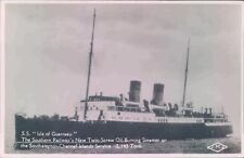 Postcard Shipping Ferries S.S Isle Of Guernsey Real photo unposted