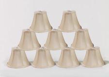 "Urbanest Cream Chandelier Mini Lamp Shades Set of 9, Soft Bell 3""x6""x5"" Clip on"