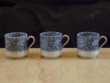 "Copeland Spode ""Camilla"" Pattern  Blue White Demitasse Cups Set 3"