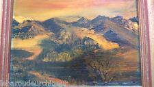 """Peinture """" paysage de suisse """" signée . Swiss landscape painting signed"""