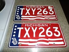 Set of Vintage1976 MichiganPlates -TXY263