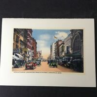 Vintage Note Card NICOLLET AVE MINNEAPOLIS,MINN. Looking East from 5th Street