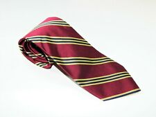 Men's BROOKS BROTHERS MAKERS 346 NECKTIE Tie MADE IN USA RED GOLD BLACK STRIPES