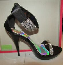 "Pleaser Party & Prom Shoes 4 3/4"" Revel Black Satin - Size 6 - REV16/BSA"