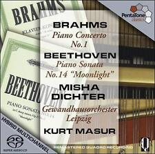Brahms: Piano Concerto No. 1; Beethoven: Piano Sonata No. 14 'Moonlight' [Hybrid