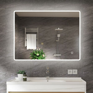 32x24 Inch Illuminated Anti-Fog LED Bathroom Mirror with Bluetooth Speaker