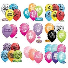 "6 X PERSONNAGE HAPPY BIRTHDAY ballons en latex 11 "" - Assortiment de couleurs {"