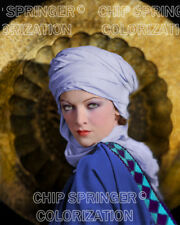 MYRNA LOY & Gong   Sexy 8x10 COLOR PHOTO by CHIP SPRINGER