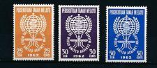 Malaysia - Malayan Federation 1962 SG 23-25 MM