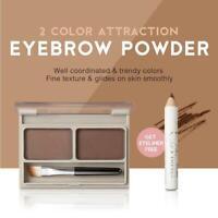 2 Color Eyebrow Powder Palette Belt Brush Eyeliner UK Natural Pencil Waterp D8S8