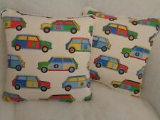"POP CARS BY JANE CHURCHILL 1 PAIR OF 18"" CUSHION COVERS - DOUBLE SIDED!"