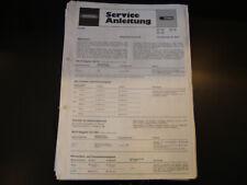 Original Service Manual  Grundig RF 720 RF 740 RF 721 RF